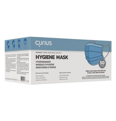 Maska za lice higijenska jednokratna 3-slojna (50kom) CURIUS