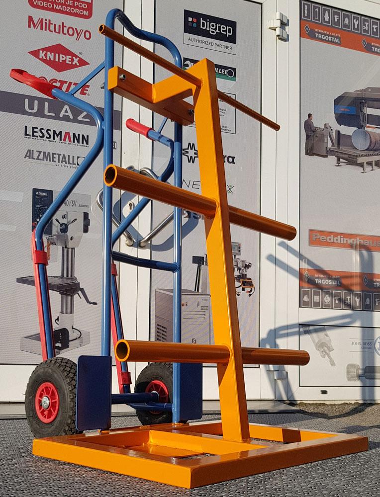 Kolica transportna 1300x740mm 300kg s nosačem kolutova (prema zahtjevu kupca)