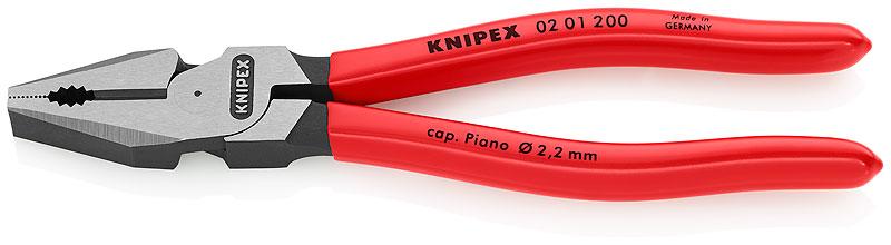 Kliješta kombinirana 200mm polirana PVC izolirana (64HRc) pojačana KNIPEX