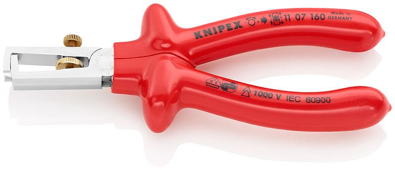 Kliješta za skidanje izolacije 160mm kromirana VDE PVC izolirana KNIPEX