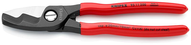 Kliješta sjekača  200mm za kablove D 20mm/70mm2 brunirana PVC izolirana KNIPEX