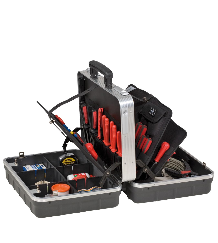 Kofer za alat 465x352x230mm s utičnim pretincima za alat PTS TWIN