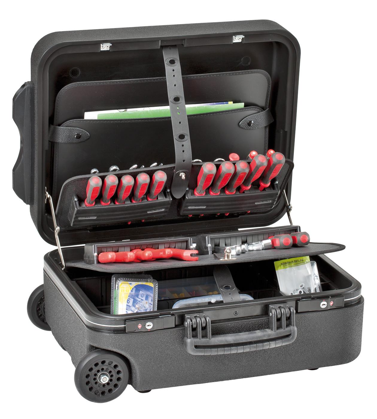 Kofer za alat 453x345x185mm s utičnim pretincima za alat NMW PSS