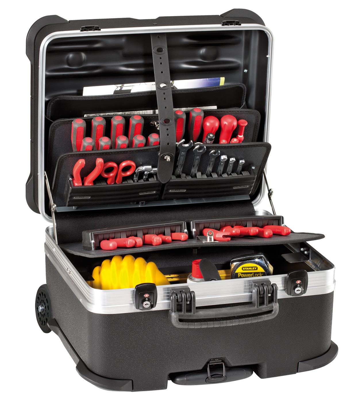 Kofer za alat 470x390x320mm ROCK s utičnim pretincima za alat PSS
